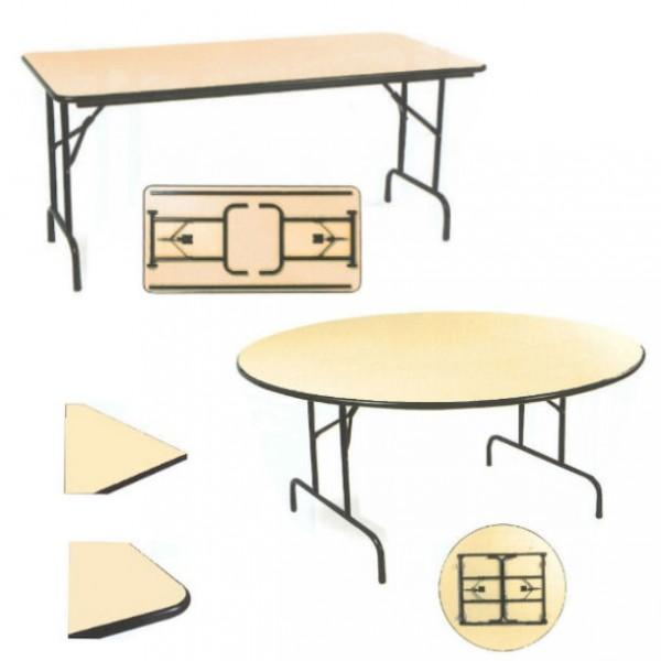 Table Ronde Pliable En Demi Lune.Table Pliante Demi Lune