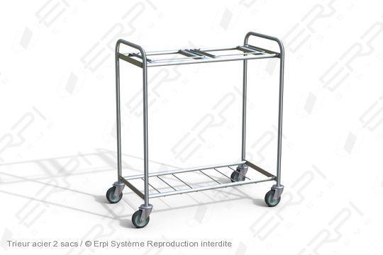 Chariot trieur acier 2 sacs - ta9555100-01z