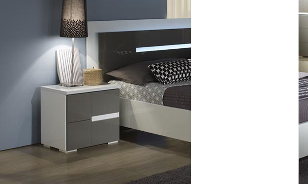 table de chevet gris et blanc design ombrine. Black Bedroom Furniture Sets. Home Design Ideas