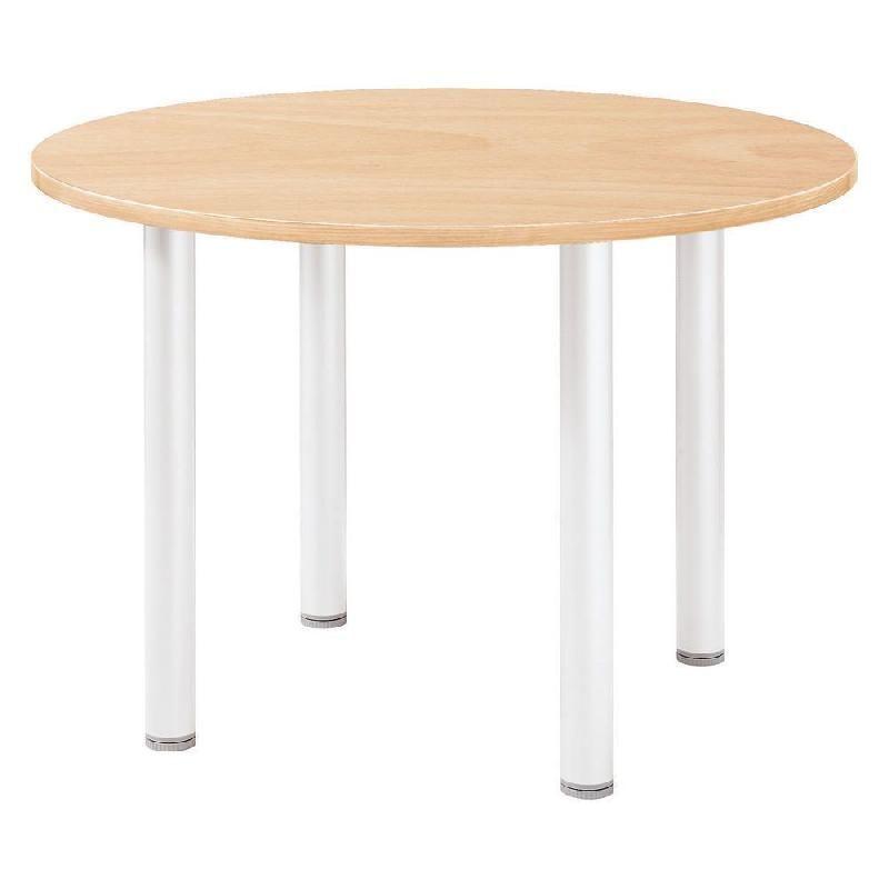 Table ronde actual l 100 x 100 cm plateau h tre pied - Pied de table 100 cm ...
