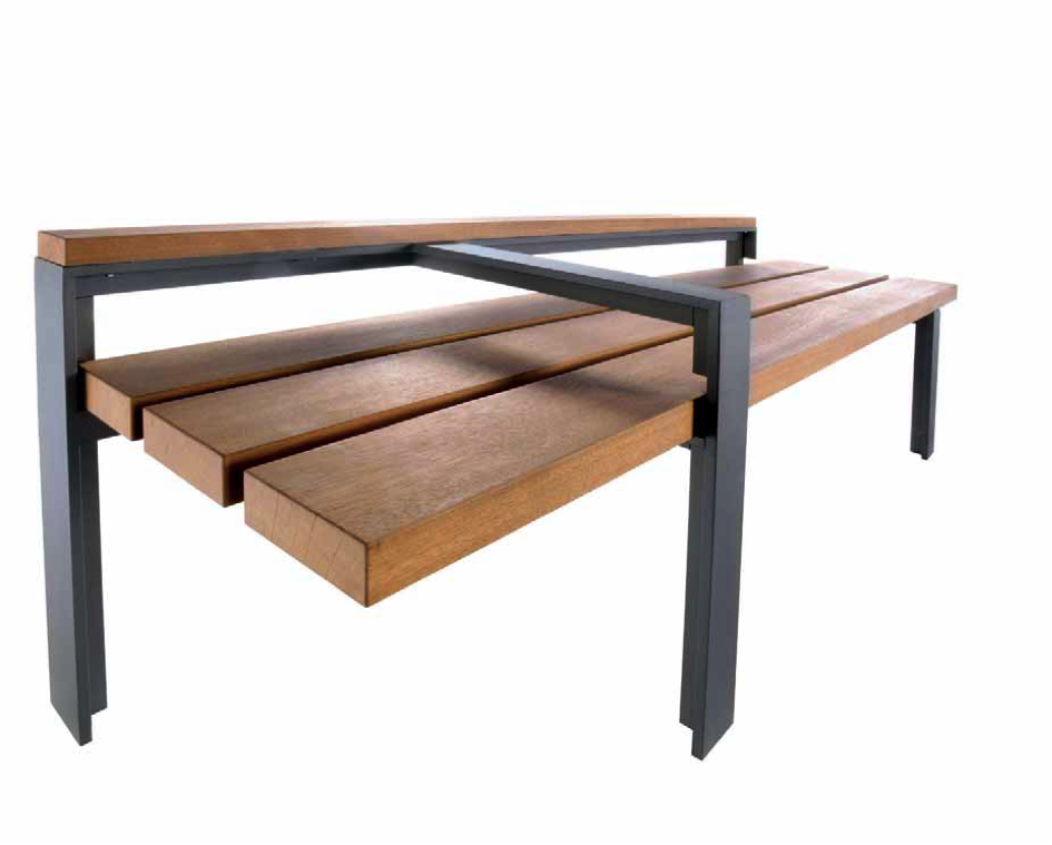 ordinary banc fer et bois #8: banc bois/metal argo design | homeezy