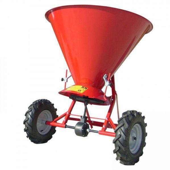 Epandeur à sel - 150 litres acier trémie peinte en rouge