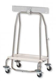Porte sac  hermétique avec blocage du sac et 2 freins - 599x490x830mm - 57242posac548