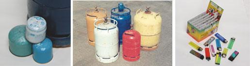 Recyclage/élimination écologique des bouteilles de gaz
