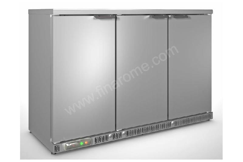 Arri re bar r frig r inox professionnel coreco 3 portes for Mobilier inox professionnel