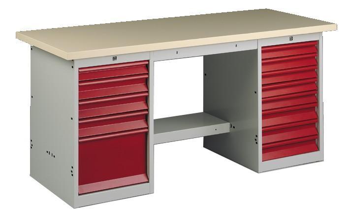 etablis d 39 atelier avec coffres. Black Bedroom Furniture Sets. Home Design Ideas