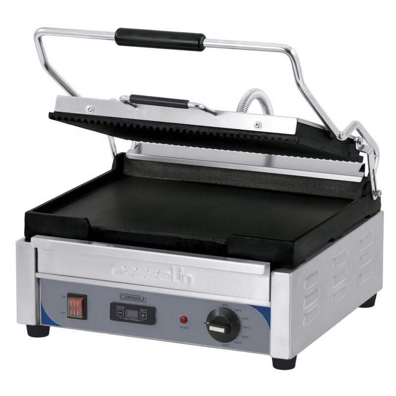grill panini grand premium rainuree lisse avec minuteur professionnel. Black Bedroom Furniture Sets. Home Design Ideas
