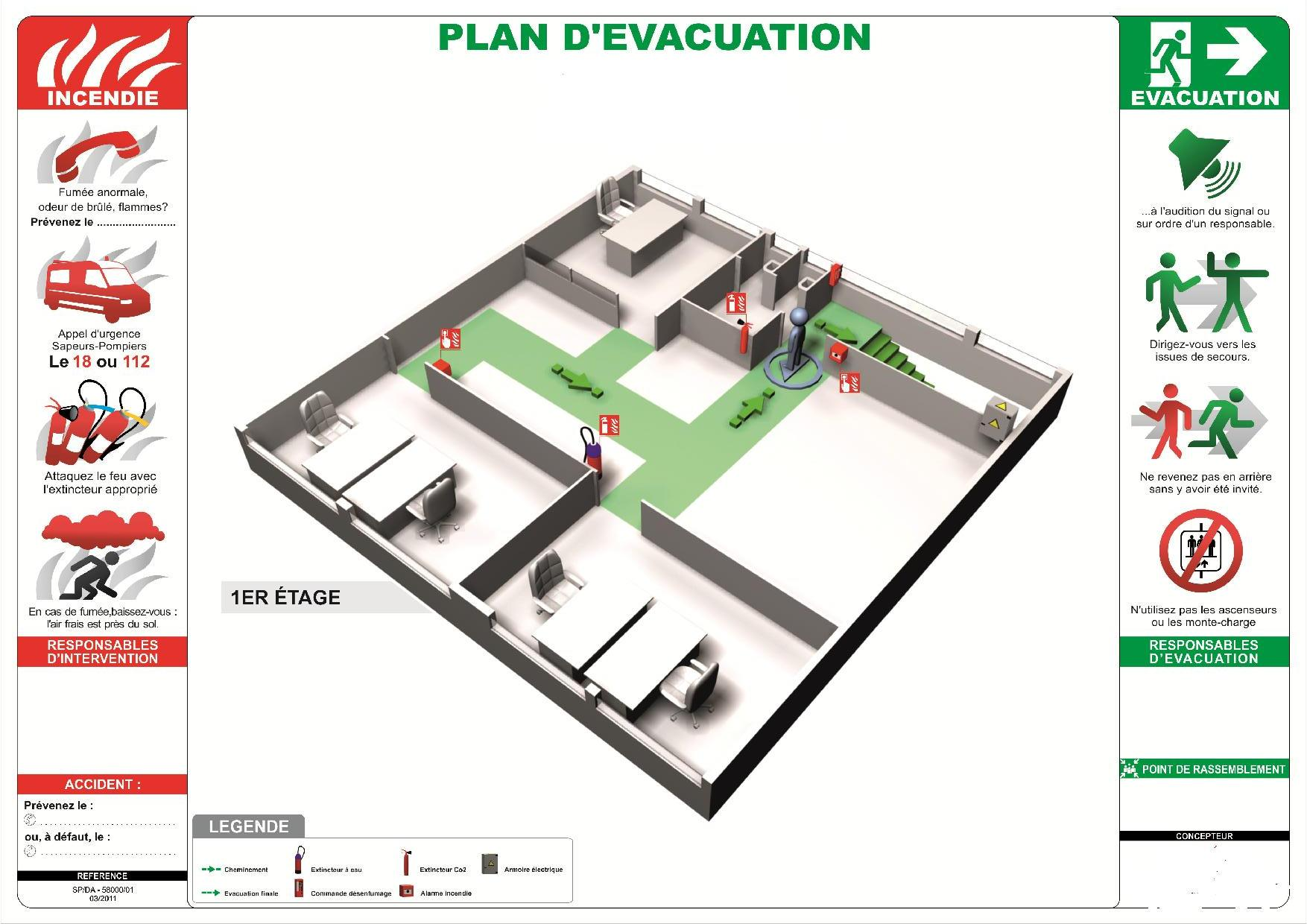 Plan d'evacuation - ONE PROTECT