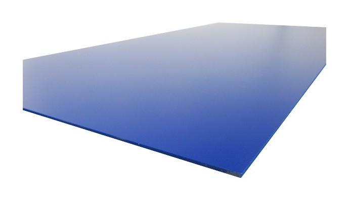 PLAQUE PVC EXPANSÉ COULEUR - COLORIS - BLEU, EPAISSEUR - 3 MM, LARGEUR - 50 CM, LONGUEUR - 100 CM, SURFACE COUVERTE EN M² - 0.5 - MCCOVER