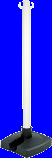 Poteau PVC Blanc BI-POSE sur socle lesté 4kg - 2000024
