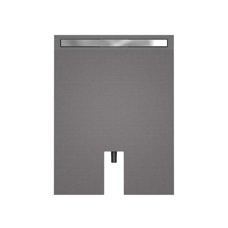 Receveur carreler 120x80cm coulement lin aire fundo for Receveur a carreler ecoulement lineaire