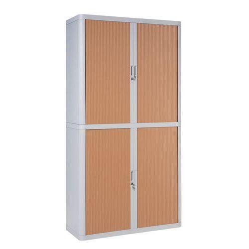 armoire rideaux en kit easyoffice hauteur 204 cm comparer les prix de armoire rideaux en. Black Bedroom Furniture Sets. Home Design Ideas