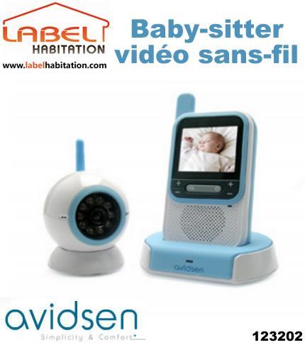 BABY-VEILLE VIDÉO SANS FIL AVIDSEN - NOVA - 123202