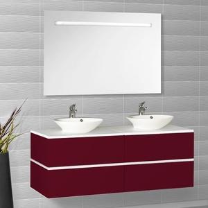creazur ensemble meuble salle de bain miroir 2 vasques rondes harmonia h7 bordeaux. Black Bedroom Furniture Sets. Home Design Ideas