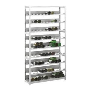 etagere a bouteilles 133 bouteilles materiau acier inoxydable x 100 0 cm x 150 0 cm. Black Bedroom Furniture Sets. Home Design Ideas