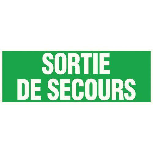 PANNEAU - SORTIE SECOURS -