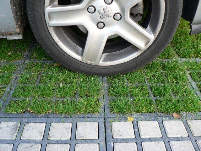 Dalle de parking tte | pour parking drainant, engazonné, végétalisé ou evergreen - dalle alvéolaire pehd engazonnée ou pavé - très haute portance