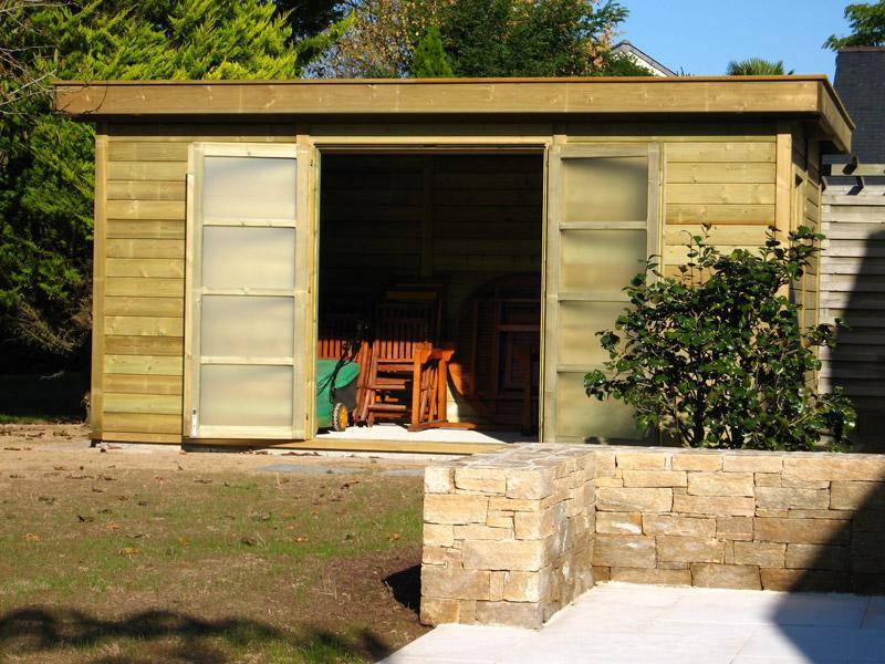 Abri la romagne produits abris de jardins for Abri bois moderne