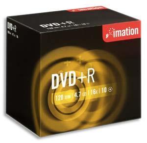 BOITE DE 10 DVD+RW IMATION