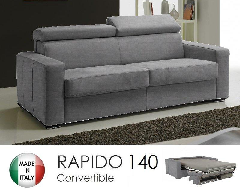 Canape systeme rapido sidney tweed cross coloris gris silex matelas 14 cm c - Systeme rapido convertible ...