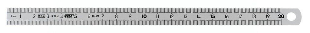 FAC 150 MM METRIQUE REGLET INOX 2 FACES