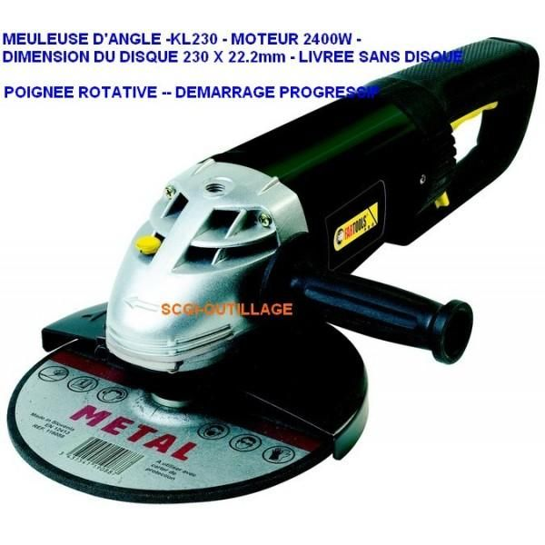 """Meuleuse d'angle """"KL230B""""  230mm  2500 W  235_115077  Outillage"""
