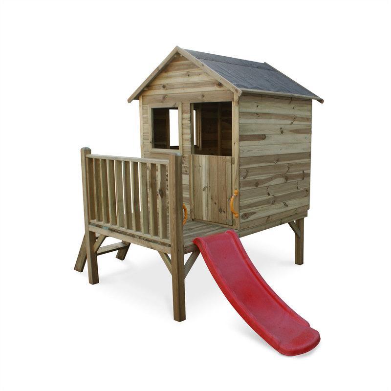 Cabanes pour enfants comparez les prix pour for Cabane enfant bois occasion