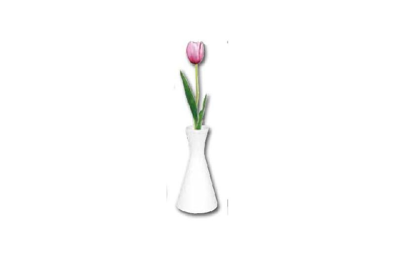MINI VASES EN PORCELAINE BLANCHE OLYMPIA 140 MM - LOT DE 6