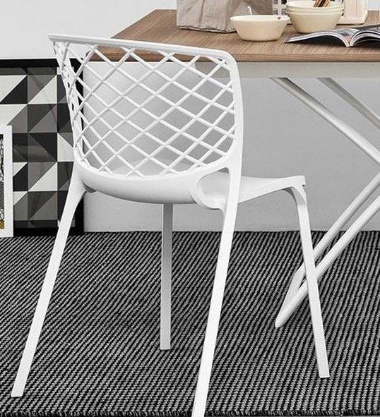 Calligaris chaise empilable gamera  blanche