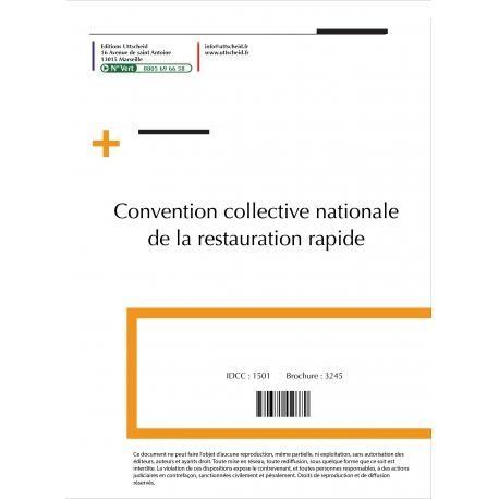 Convention collective nationale de la restauration rapide for Equipement restauration rapide