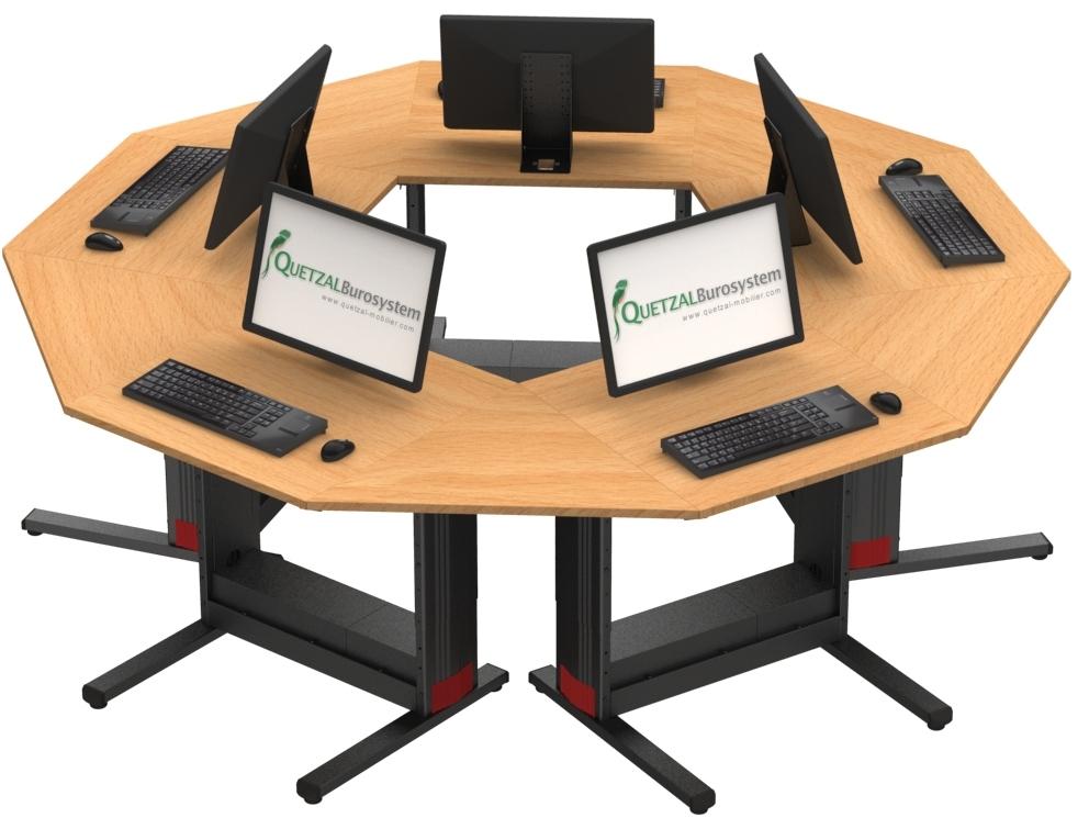 Ilots marguerite format+ 5 tables à écrans posés
