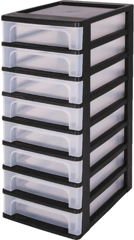 tour de rangement 8 tiroirs transparent comparer les. Black Bedroom Furniture Sets. Home Design Ideas
