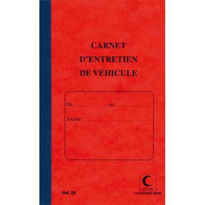 PIQÛRE 32 PAGES CARNET ENTRETIEN DU VÉHICULE LEBON & VERNAY - FOLIOTÉ DE 1 À 15 - FORMAT 21X13 CM