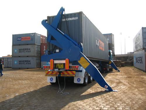 Camion porte container avec grue tracteur agricole - Camion porte container avec grue occasion ...