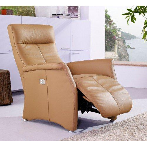 kingston fauteuil relax electrique cuir vachette camel. Black Bedroom Furniture Sets. Home Design Ideas