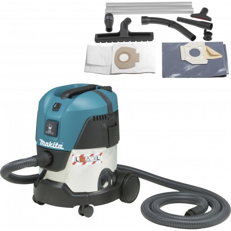 aspirateur makita 1200 watt 20 litres classe l cuve en inox modele vc2012l. Black Bedroom Furniture Sets. Home Design Ideas