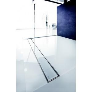 GRILLE EN VERRE BLANC DESIGN 'GLASS' POUR LE TECEDRAINLINE 700MM