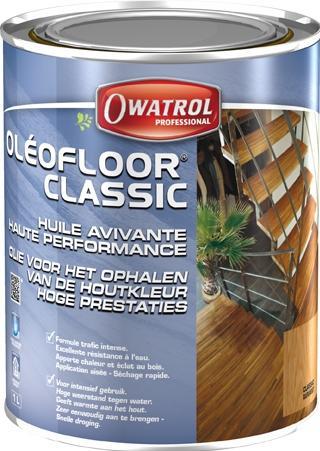 Oleofloor classic - huile à parquet en phase aqueuse avivante