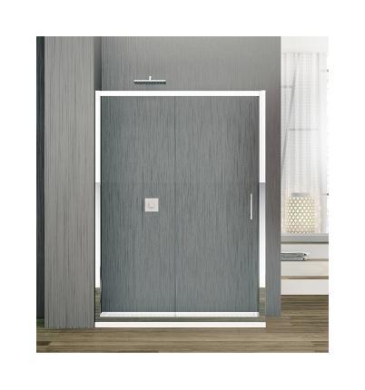 porte coulissante zephyros 2p 120 cm verre transparent profil s silver novellini comparer. Black Bedroom Furniture Sets. Home Design Ideas