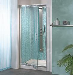 Porte douche pivotante corail 107 120 cm pa634ctne chrome comparer les prix - Porte de douche battant ...