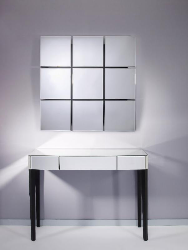 Sowhat ensemble console et miroir mural en verre for Miroir et console