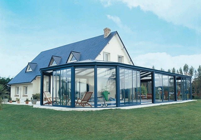 V randa ossature bois for Prix toit terrasse au m2