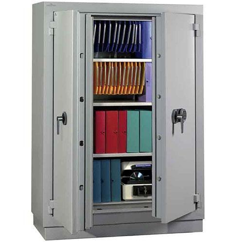 armoire forte a cle ignifuge 2h 260 l 3 etageres. Black Bedroom Furniture Sets. Home Design Ideas