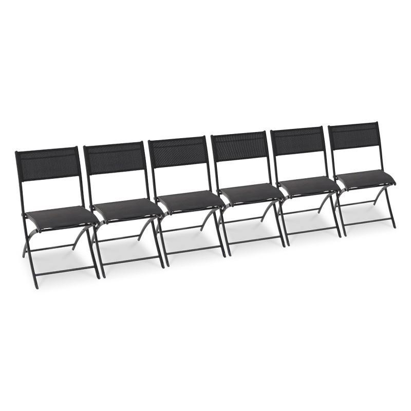 lot de 6 chaises pliantes noires comparer les prix de lot de 6 chaises pliantes noires sur. Black Bedroom Furniture Sets. Home Design Ideas
