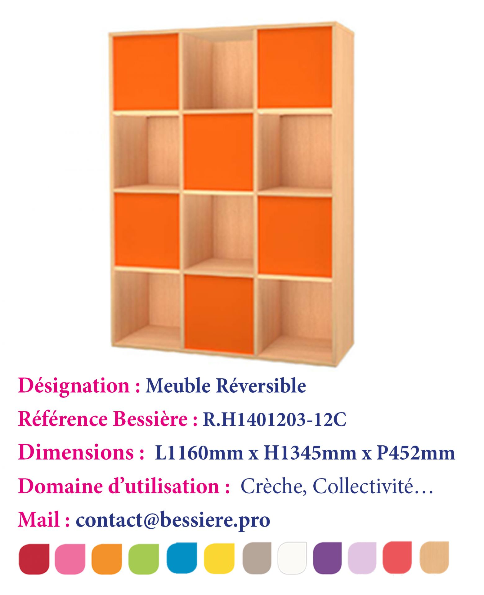 Meuble De Rangement 12 Cases.Meuble De Rangement Avec 12 Cases Reversible