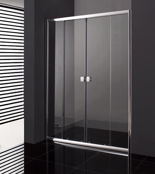 paroi de douche portes coulissantes 160 cm titan spazio 6mm. Black Bedroom Furniture Sets. Home Design Ideas