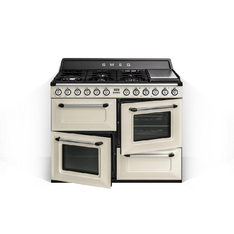 Smeg - cuisiniere gaz centre de cuisson 110cm victoria tr4110p (tr ...
