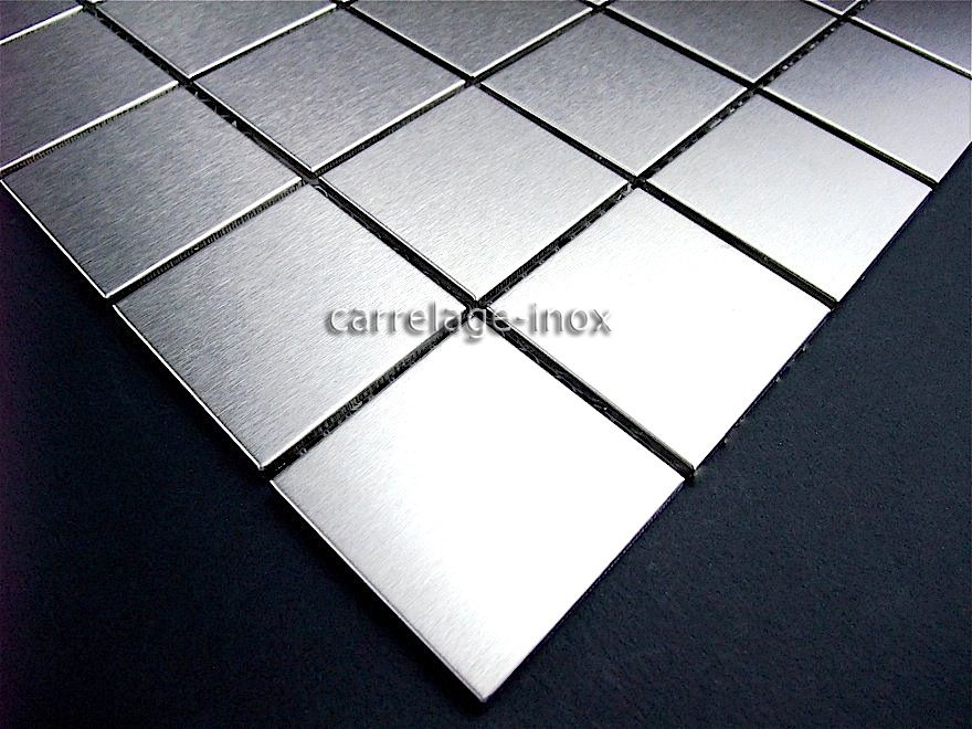CARRELAGE MOSAIQUE INOX REGULAR 48