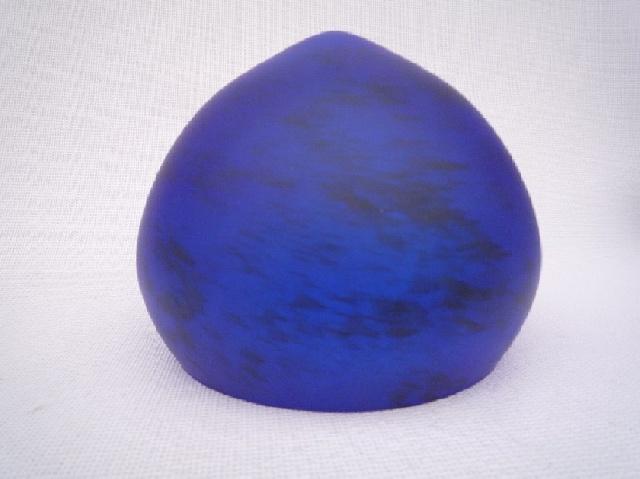 abat jour pate de verre cone 20 cm bleu mouchet. Black Bedroom Furniture Sets. Home Design Ideas