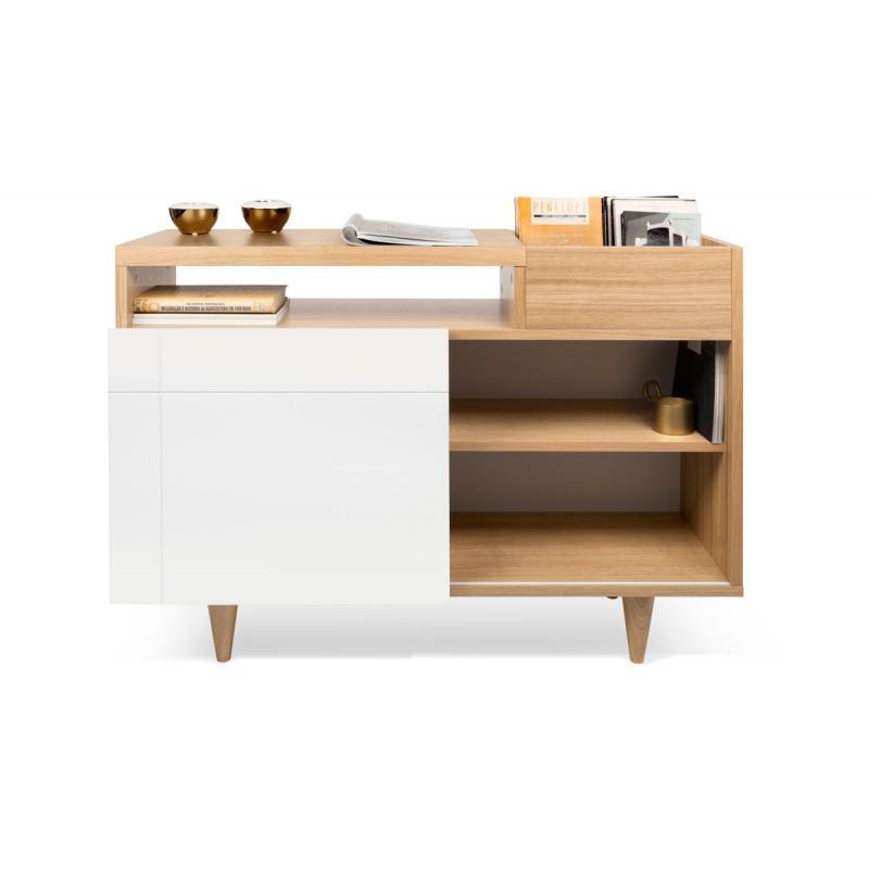 Temahome Buffet Design Cruz 82cm Blanc Mat Chene Paris Prix
